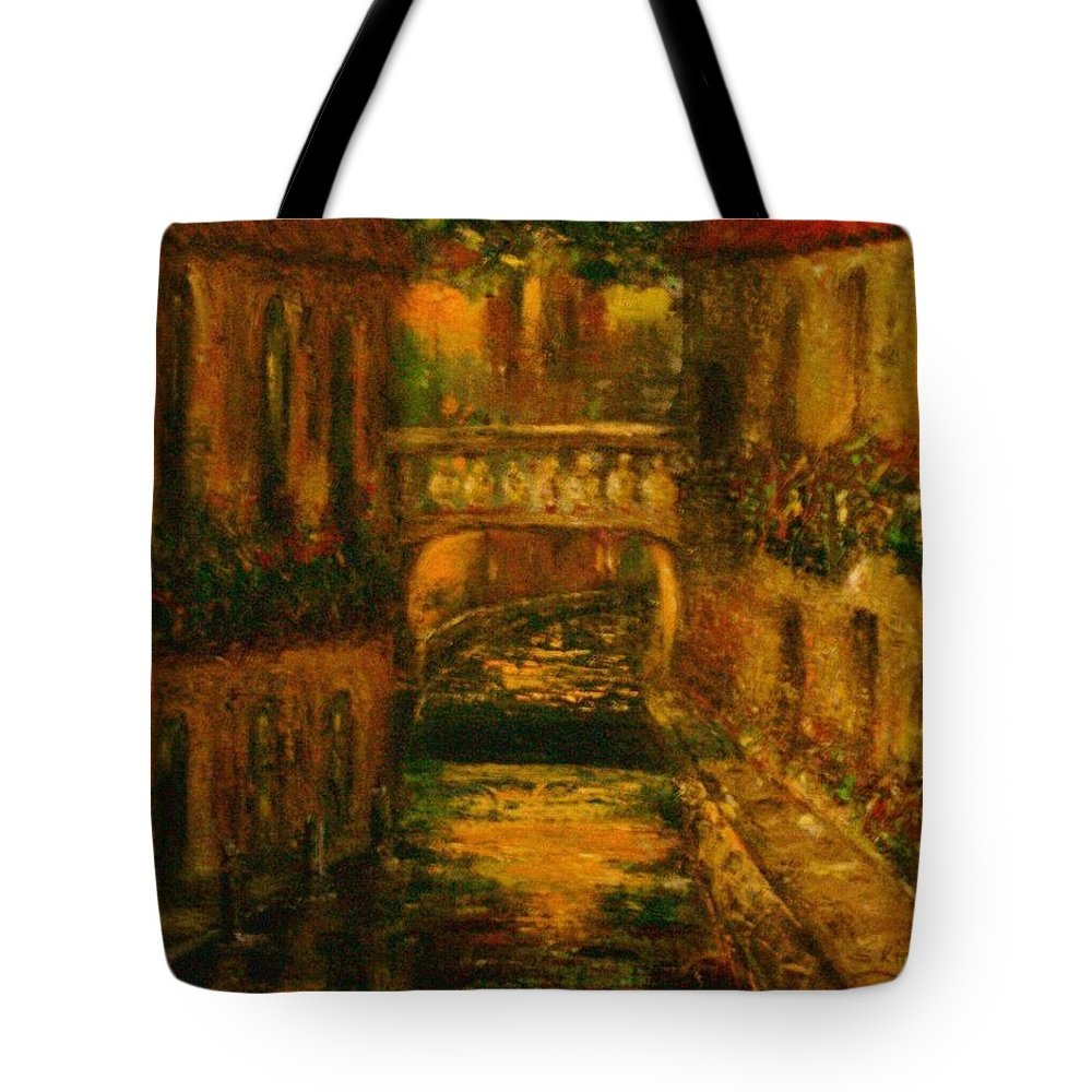 Landscape Tote Bag featuring the painting Waters Of Europe by Stephen King