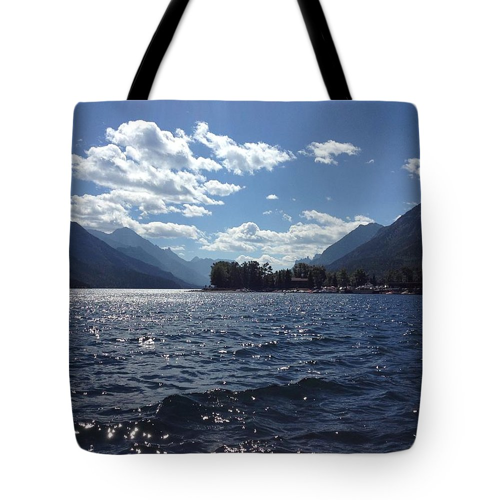 Waterton Lake Tote Bag featuring the photograph Waterton Lake by Julia Thompson
