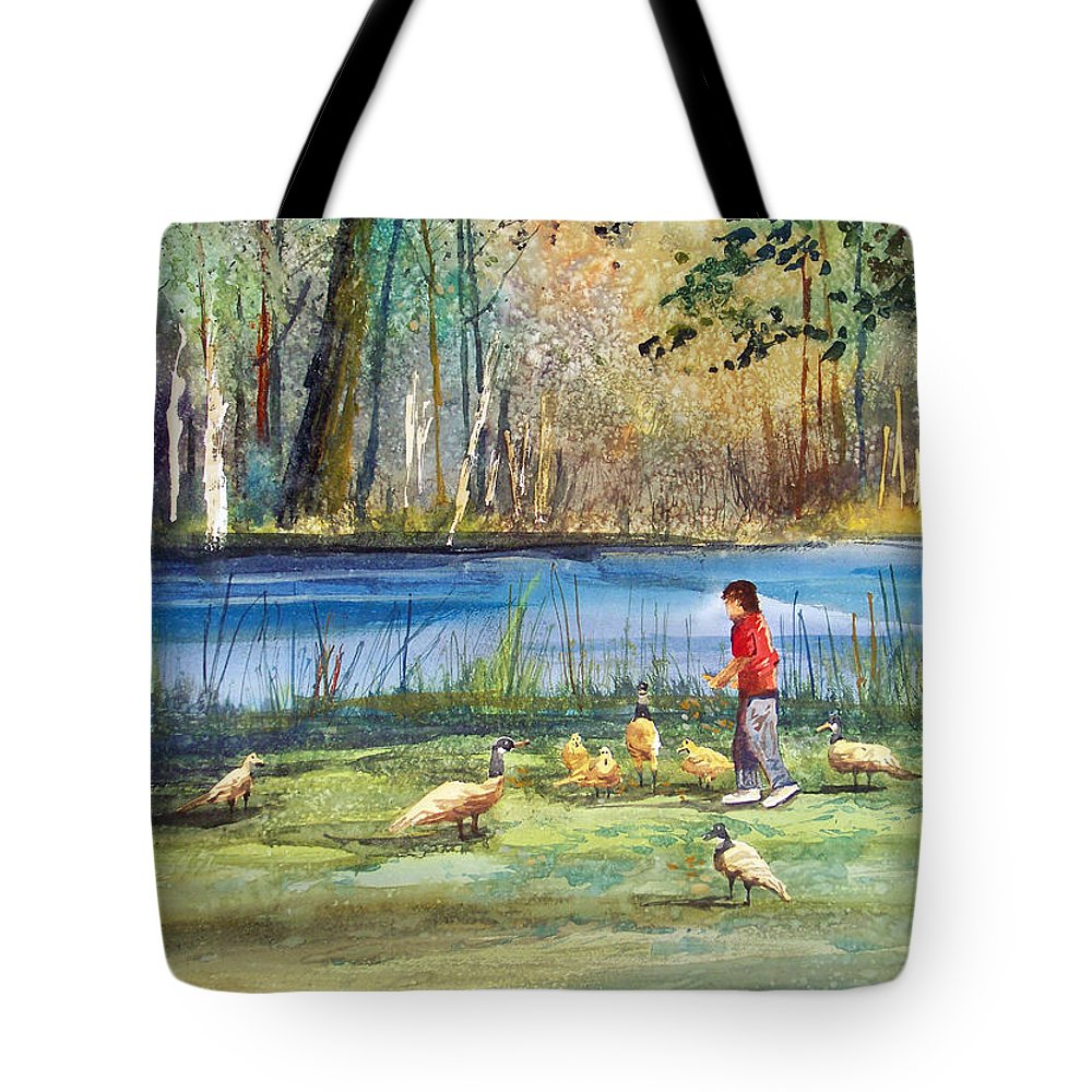 Mill Pond Tote Bags
