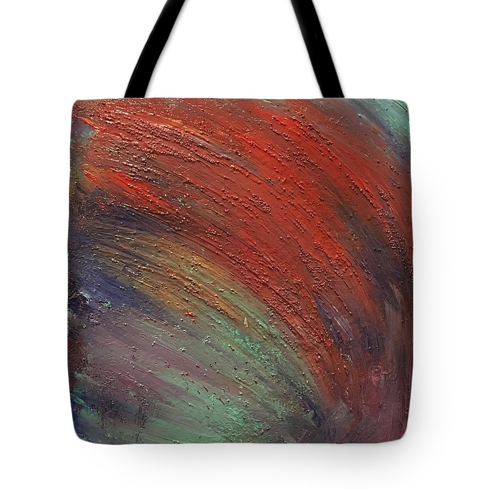 Abstract Tote Bag featuring the painting Wave by Margaret Fronimos