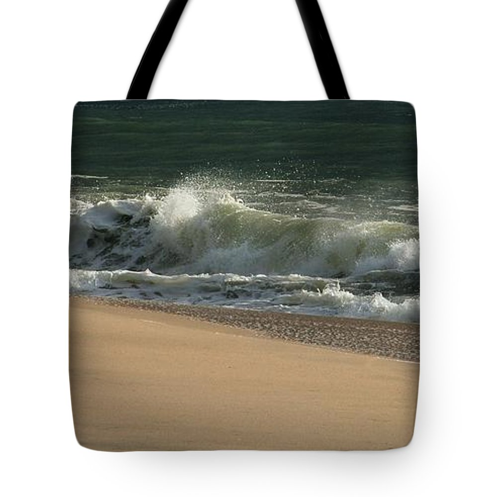 Jersey Shore Tote Bag featuring the photograph Wave Of Light - Jersey Shore by Angie Tirado