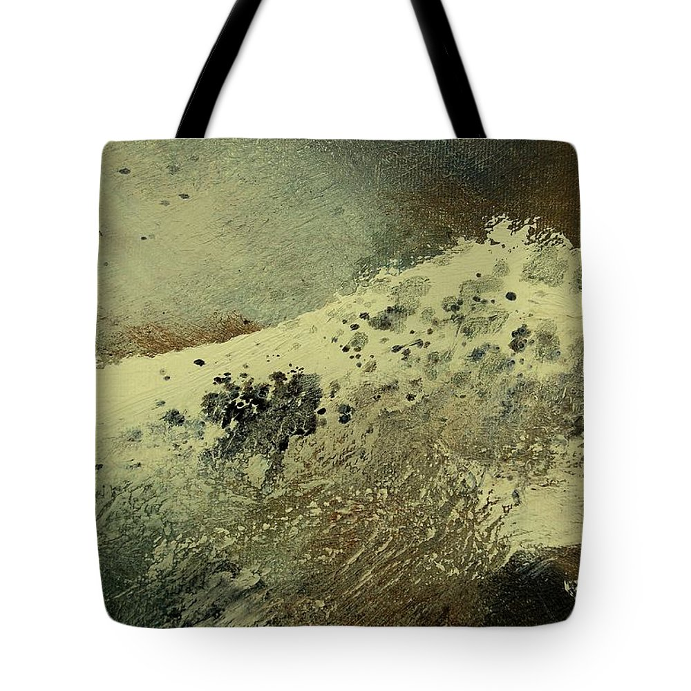 Sea Tote Bag featuring the painting Wave by Pol Ledent