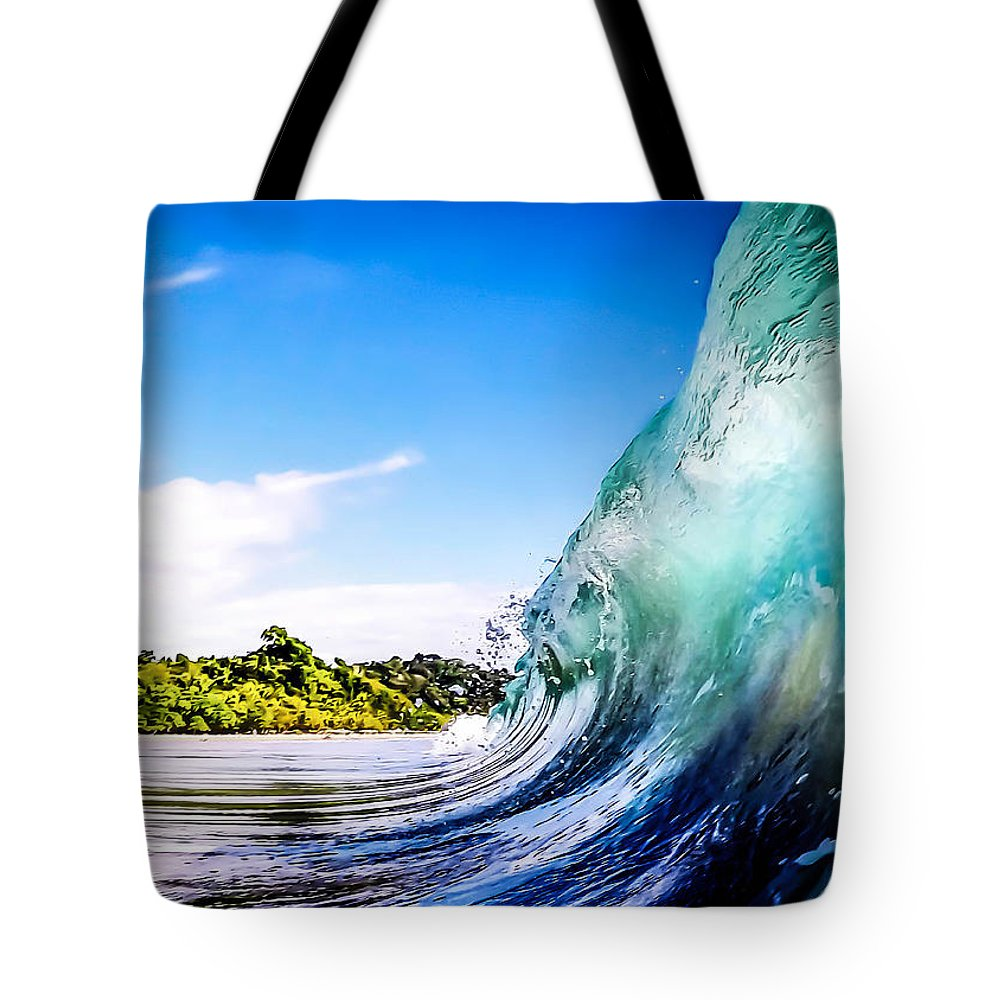 Wave Tote Bag featuring the photograph Wave Wall by Nicklas Gustafsson
