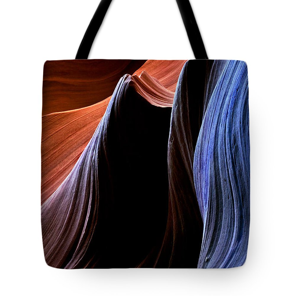 Sandstone Tote Bag featuring the photograph Waves by Mike Dawson