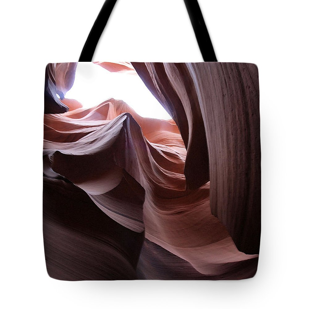 Landscape Tote Bag featuring the photograph Waves Of Stone by Mary Haber