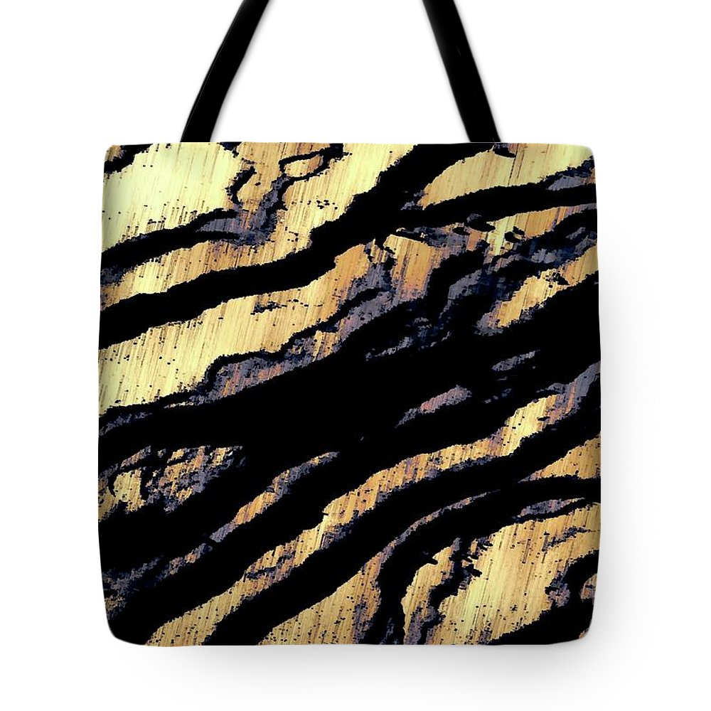 Digital Altered Photo Tote Bag featuring the digital art Waves Of Time 3 by Tim Richards