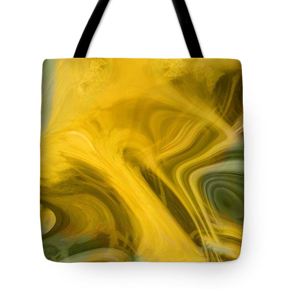 Abstract Art Tote Bag featuring the digital art Way Out Of Here by Linda Sannuti