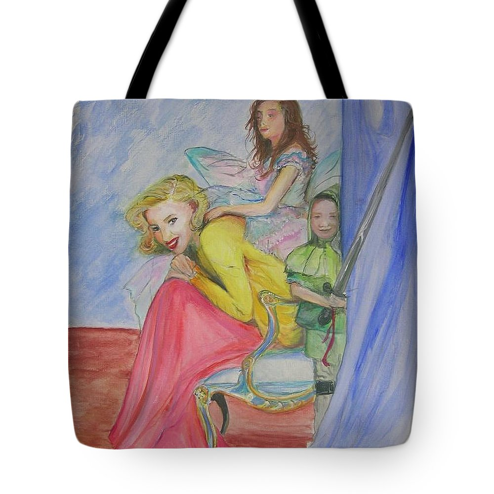 Tote Bag featuring the painting Way Past Bedtime 2 by Lizzy Forrester