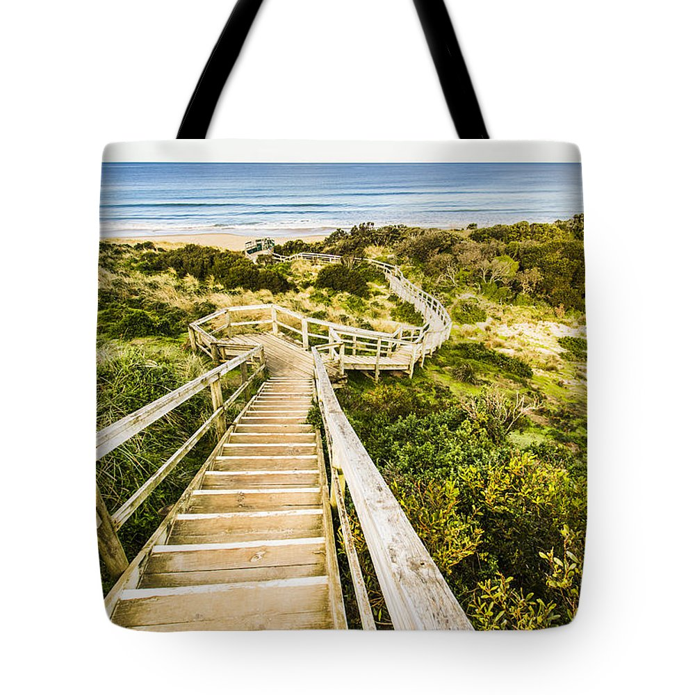Sea Tote Bag featuring the photograph Way To Neck Beach by Jorgo Photography - Wall Art Gallery