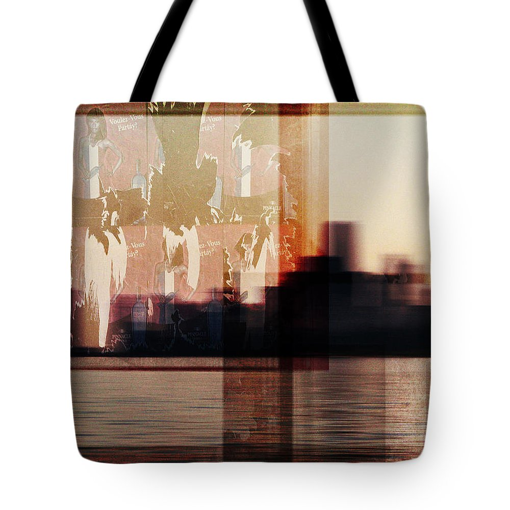 Dipasquale Tote Bag featuring the photograph We Almost Missed Our Stop On The Train And Ran To Get Off by Dana DiPasquale