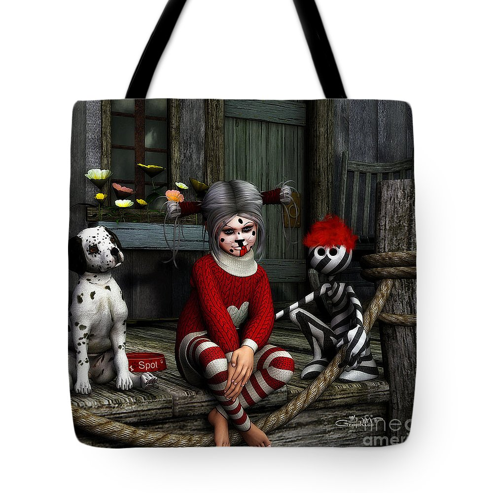 3d Tote Bag featuring the digital art We Are Family by Jutta Maria Pusl