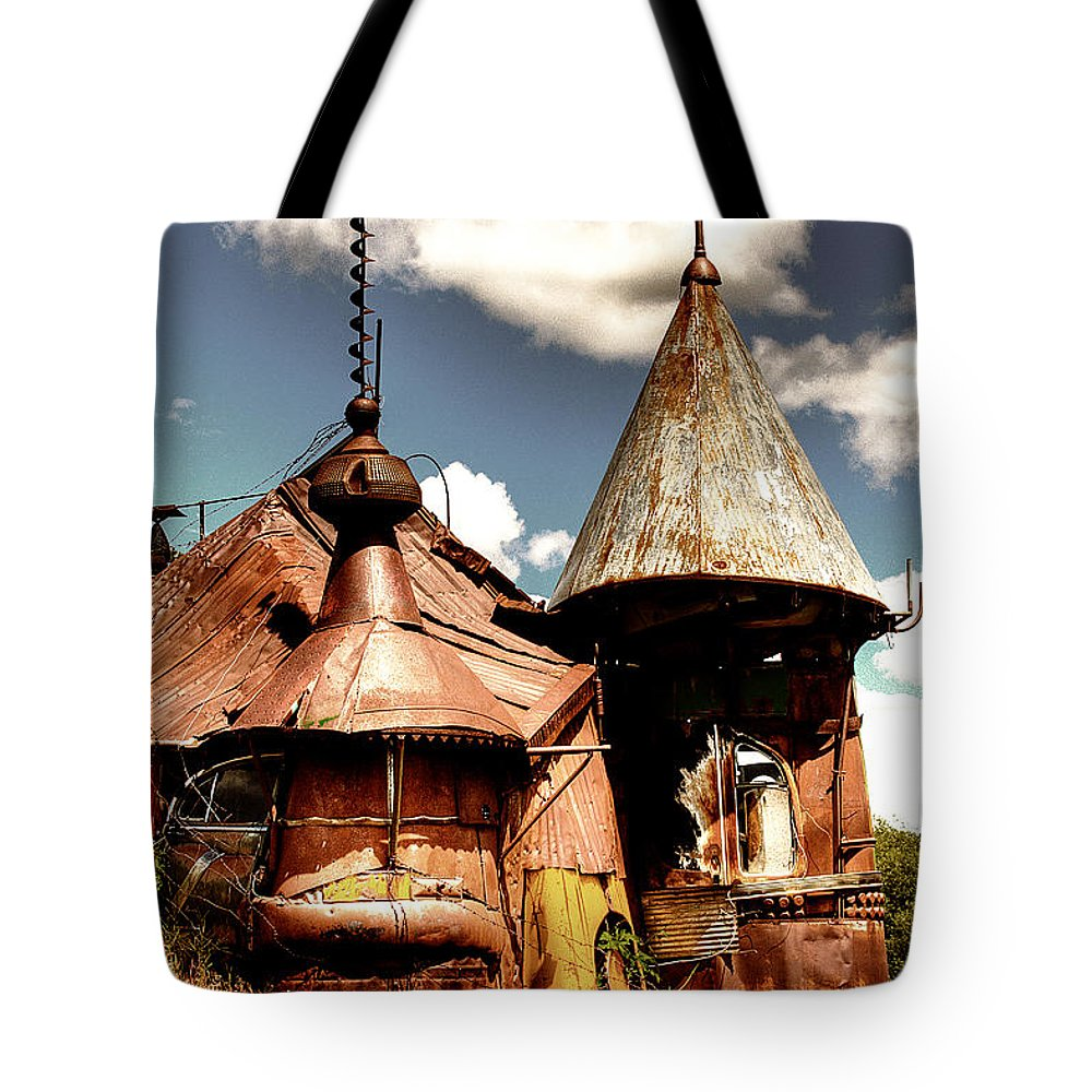 Junk Castle Tote Bag featuring the photograph We Are Not In Kansas Anymore II by David Patterson