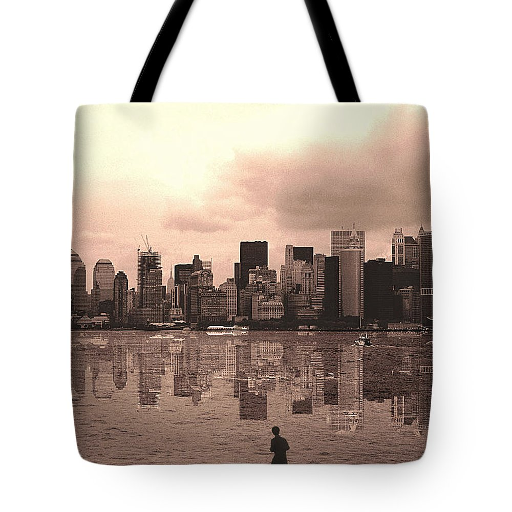Photo Tote Bag featuring the photograph We Are Watched by Enrique Crusellas