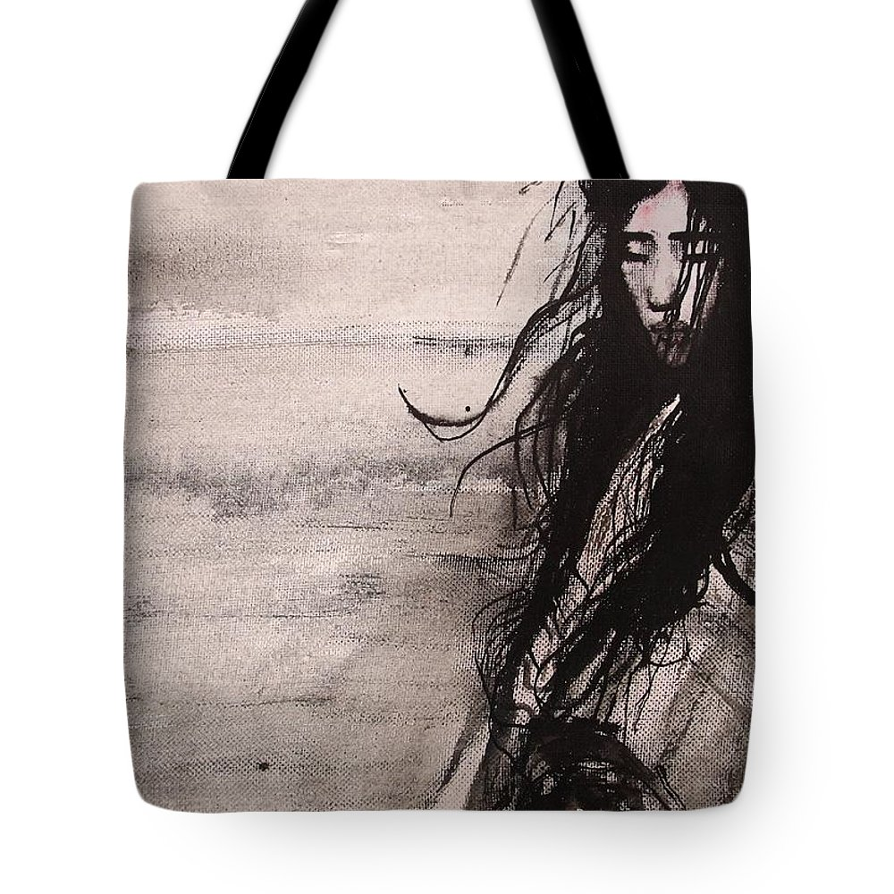 Portrait Art Tote Bag featuring the painting We Dreamed Our Dreams by Jarmo Korhonen aka Jarko