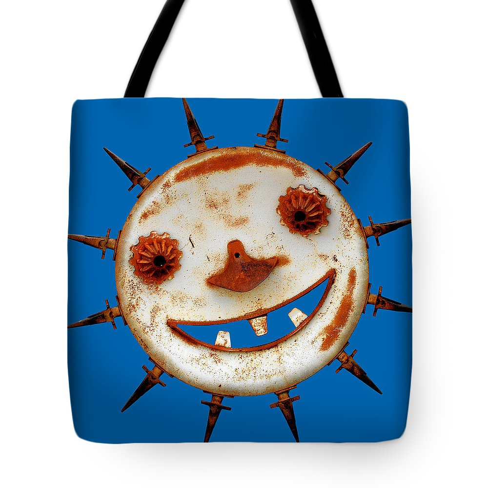 Humor Tote Bag featuring the photograph Wear Sunscreen by Christine Till