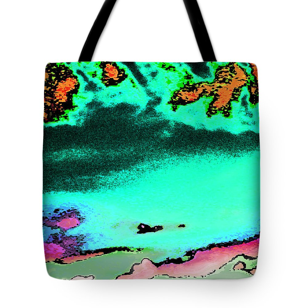 Abstract Tote Bag featuring the digital art Weather by Lenore Senior