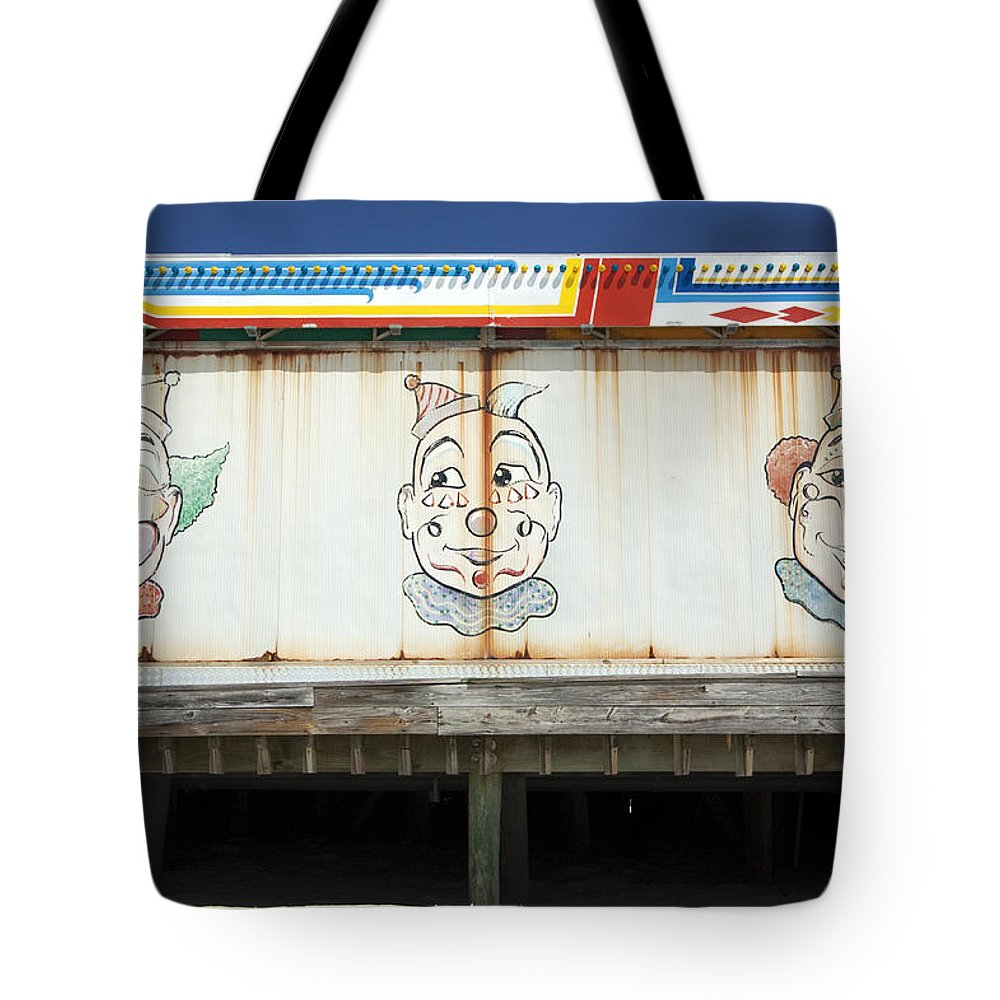 Landscape Tote Bag featuring the photograph Weathered Clowns by Mary Haber