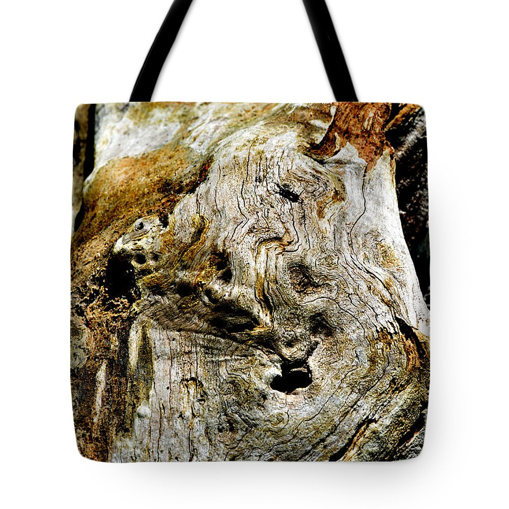 Nature Tote Bag featuring the photograph Weathered Wood by Debbie Portwood