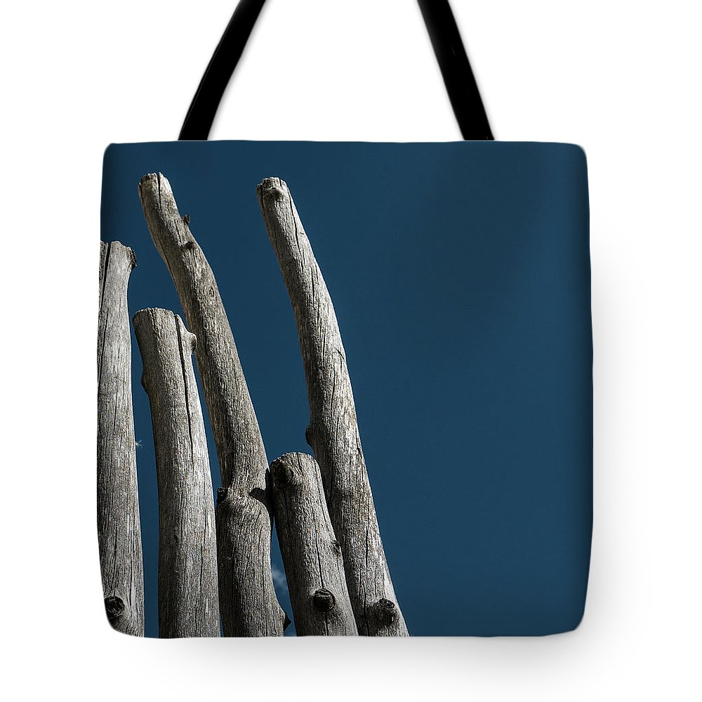 Wood Tote Bag featuring the photograph Weathered Wood by John Unwin