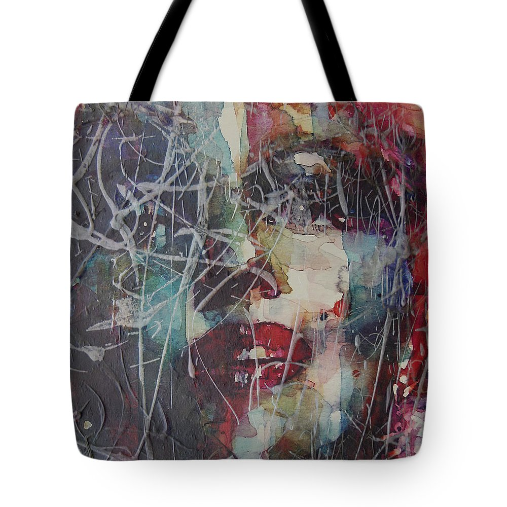 Marilyn Monroe Tote Bag featuring the painting Web Of Deceit by Paul Lovering
