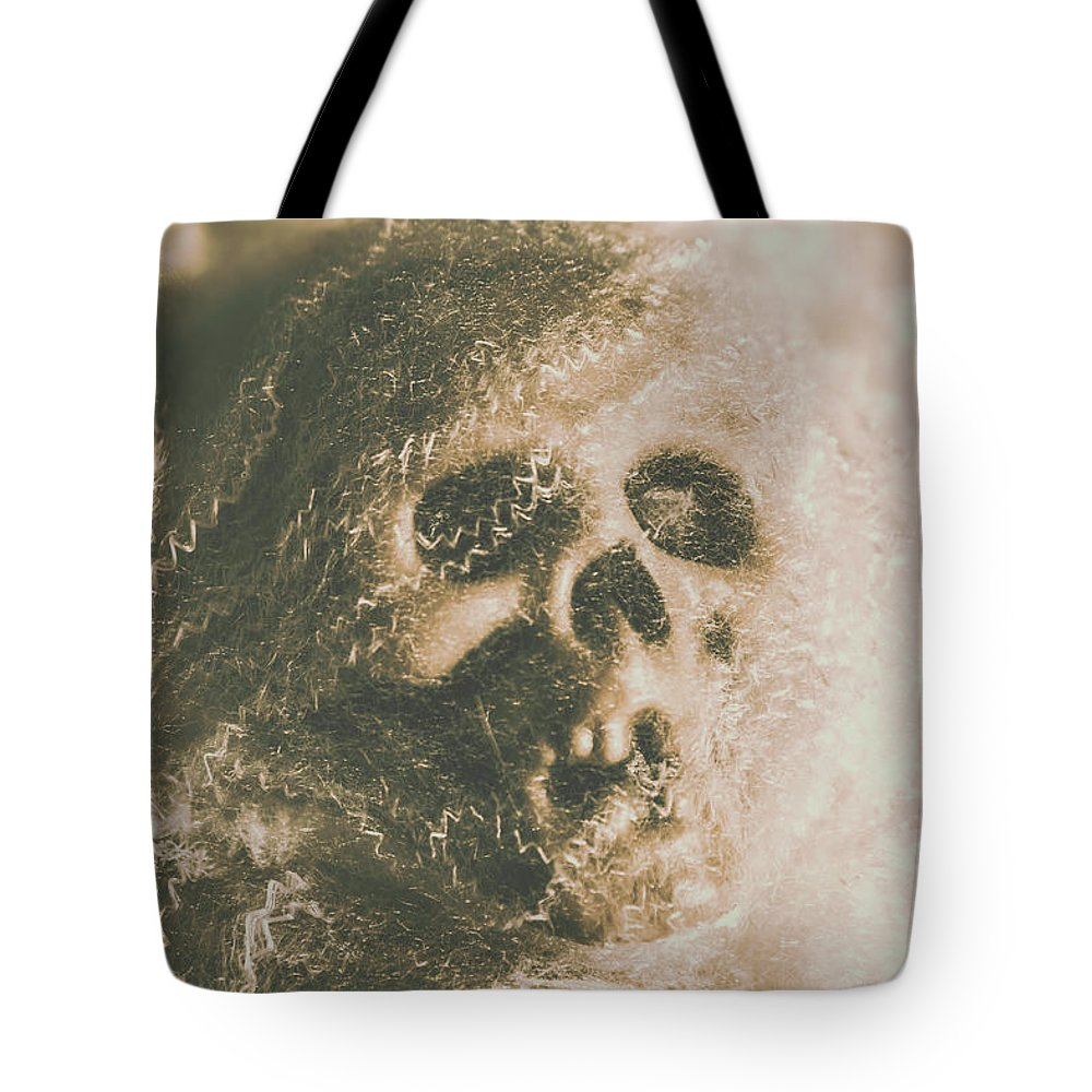 Bone Tote Bag featuring the photograph Webs And Dead Heads by Jorgo Photography - Wall Art Gallery