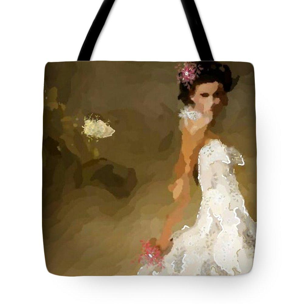 Uzart Tote Bag featuring the digital art Wedding Day #0072 by Urszula Zogman