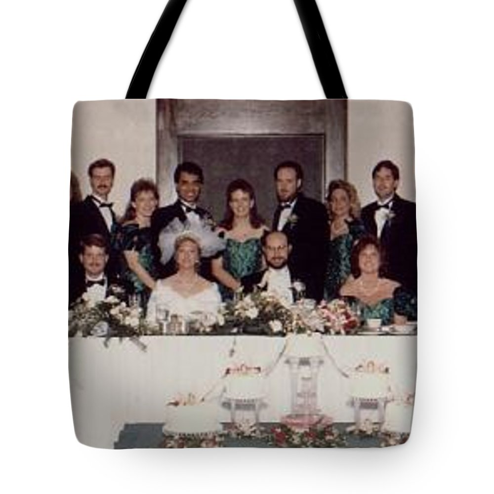 Wedding Tote Bag featuring the photograph Wedding Party by John Graziani