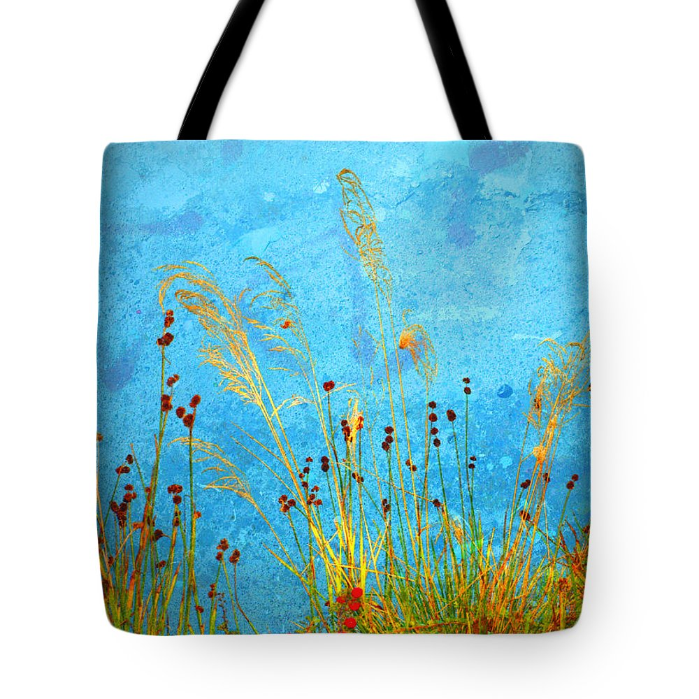 Weeds Tote Bag featuring the photograph Weeds And Water by Tara Turner