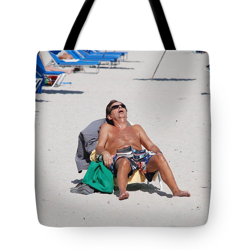 Beach Tote Bag featuring the photograph Weekend At Bernies by Rob Hans