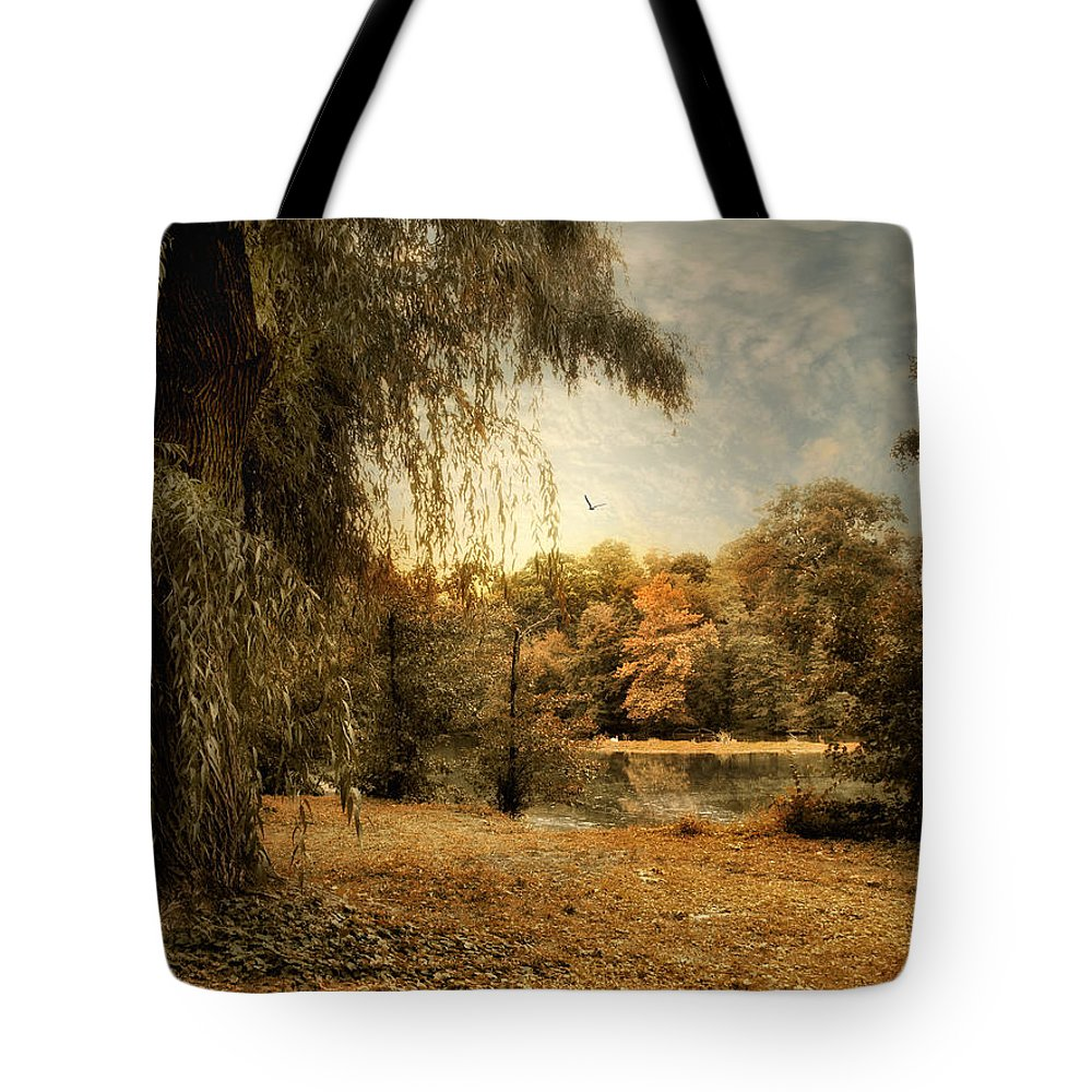 Nature Tote Bag featuring the photograph Weeping Willow by Jessica Jenney