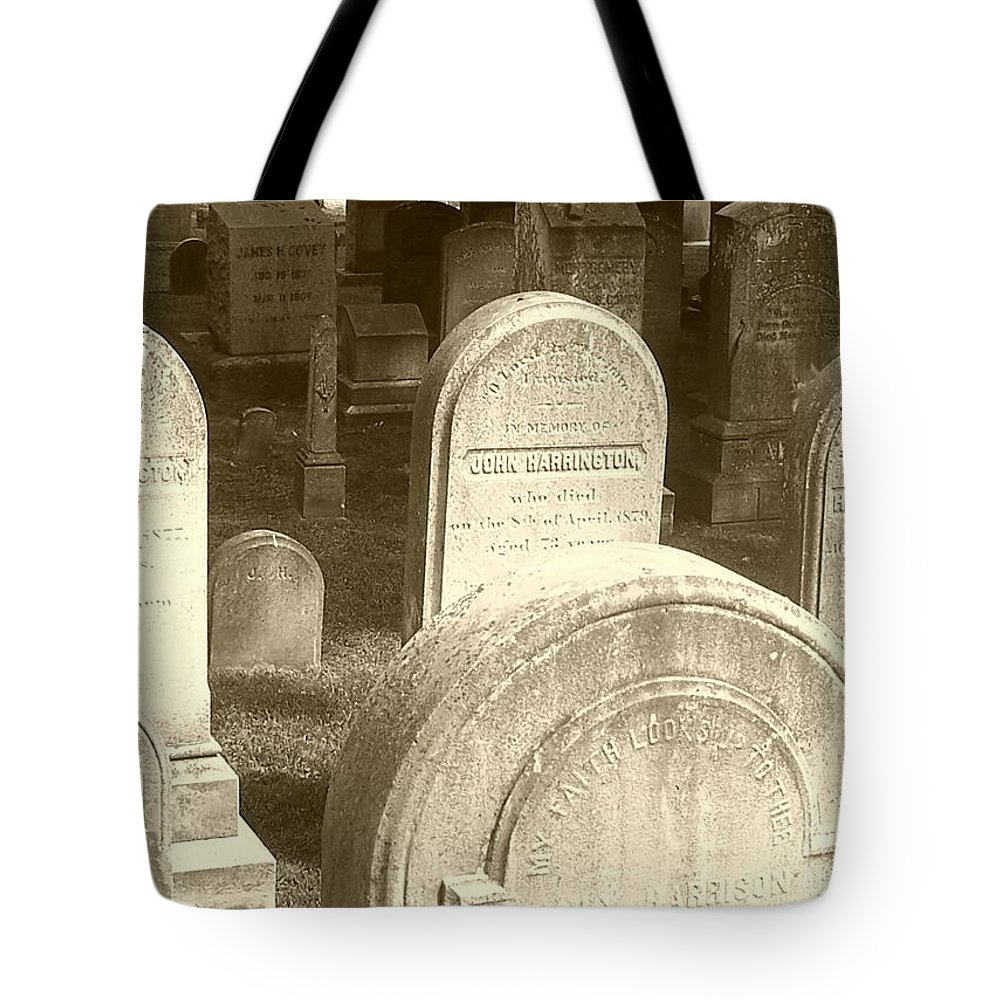 Cemetery Tote Bag featuring the photograph Welcome by Debbi Granruth