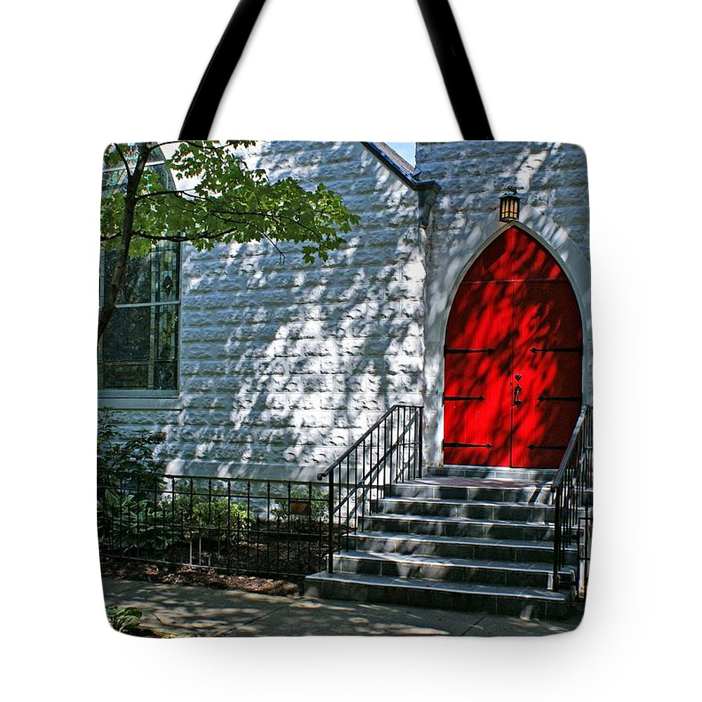 Church Tote Bag featuring the photograph Welcome by Sandy Keeton