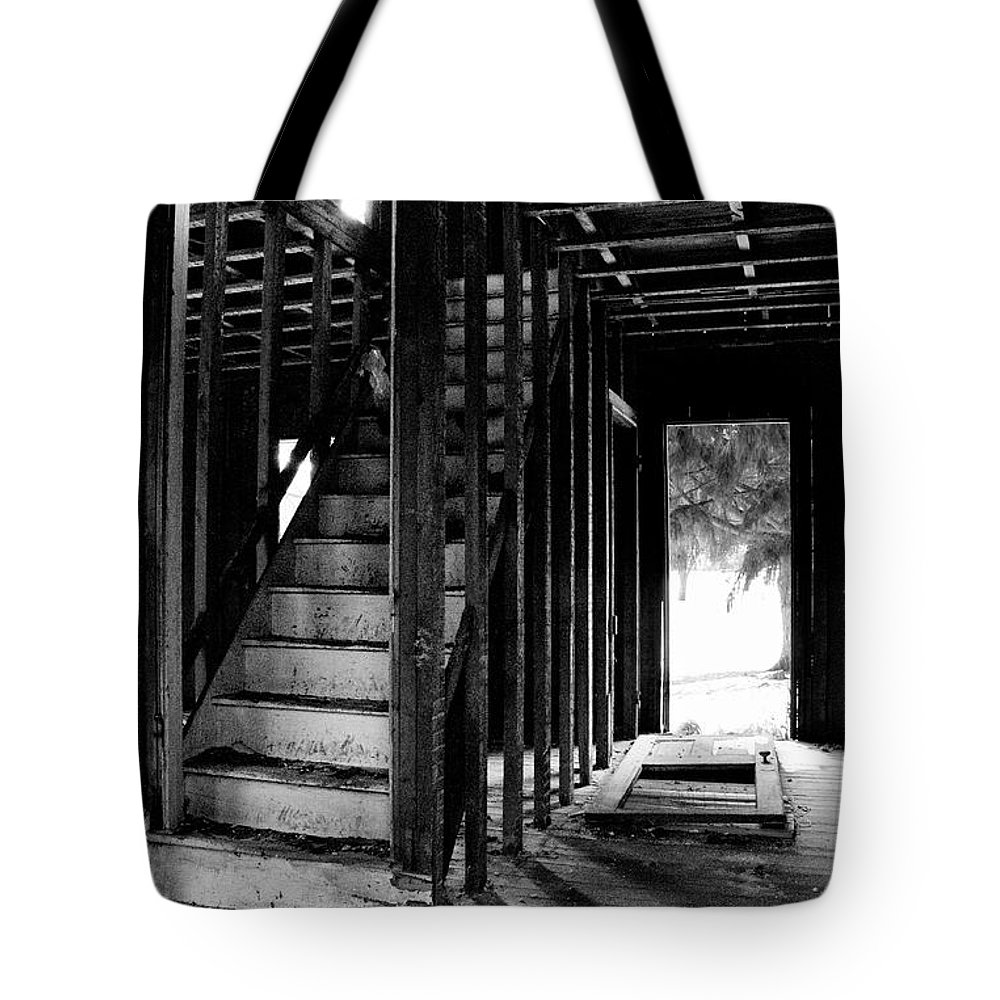 Stairs Tote Bag featuring the photograph Welcome by Scott Hafer