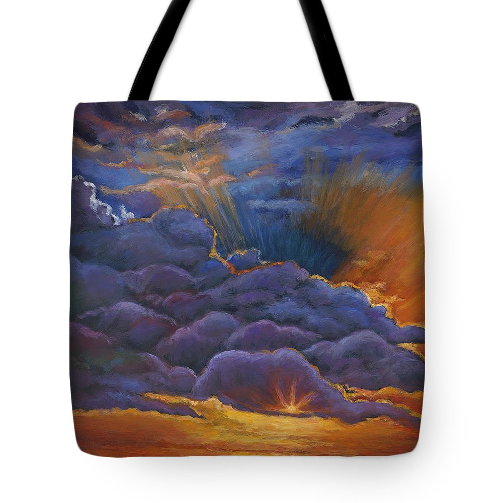 Skyscape Paintings Tote Bags