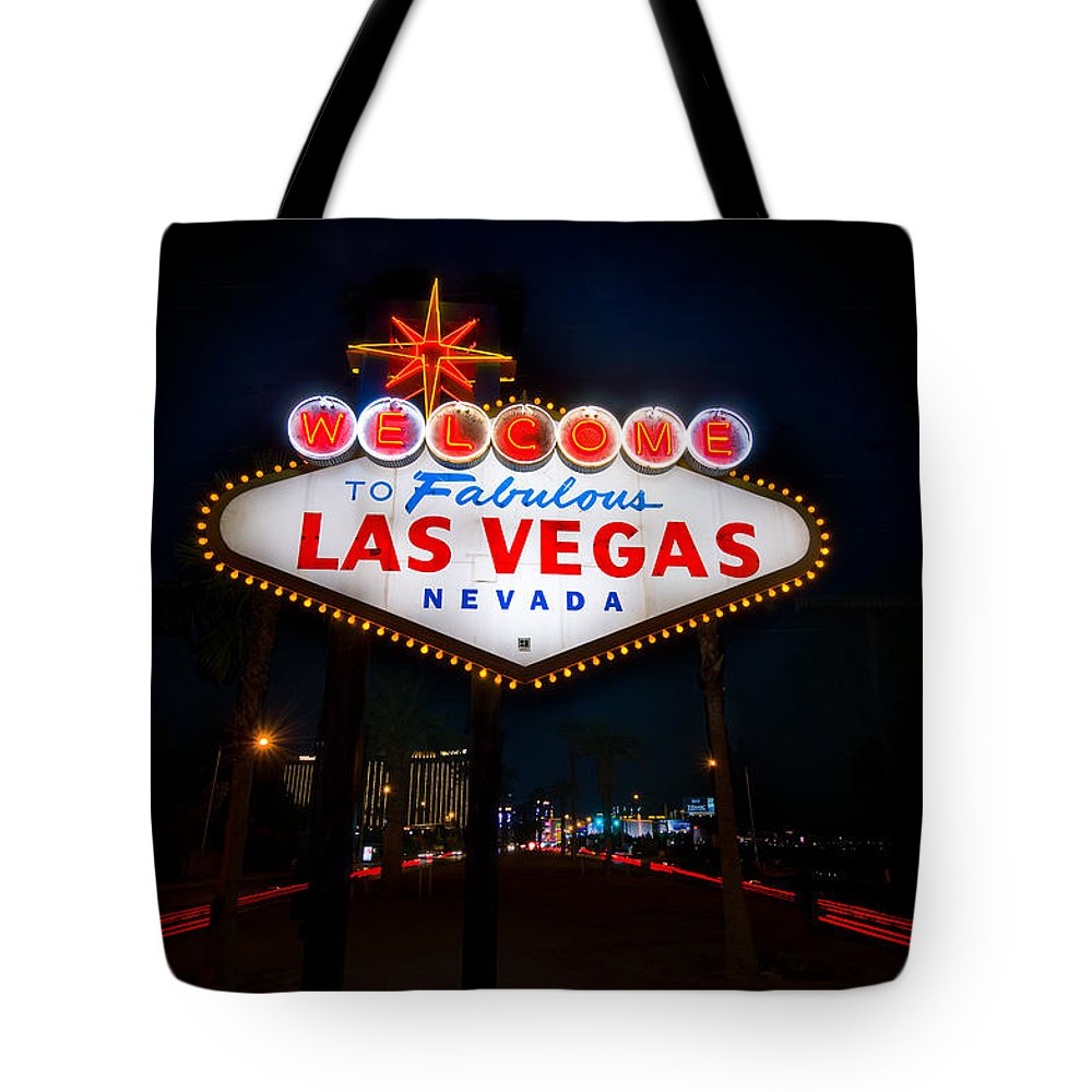 Casino Tote Bag featuring the photograph Welcome To Las Vegas by Steve Gadomski