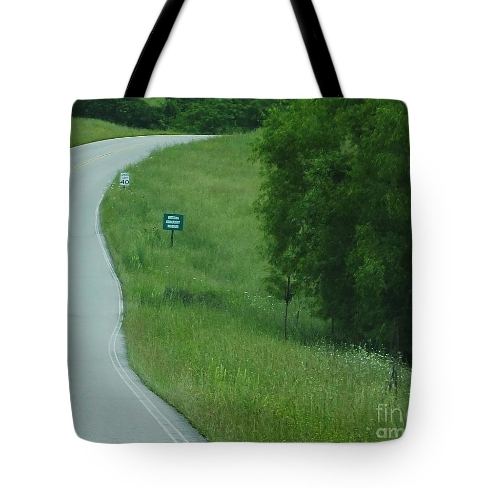 Rural Tote Bag featuring the photograph Welcome To Missouri by Lizi Beard-Ward