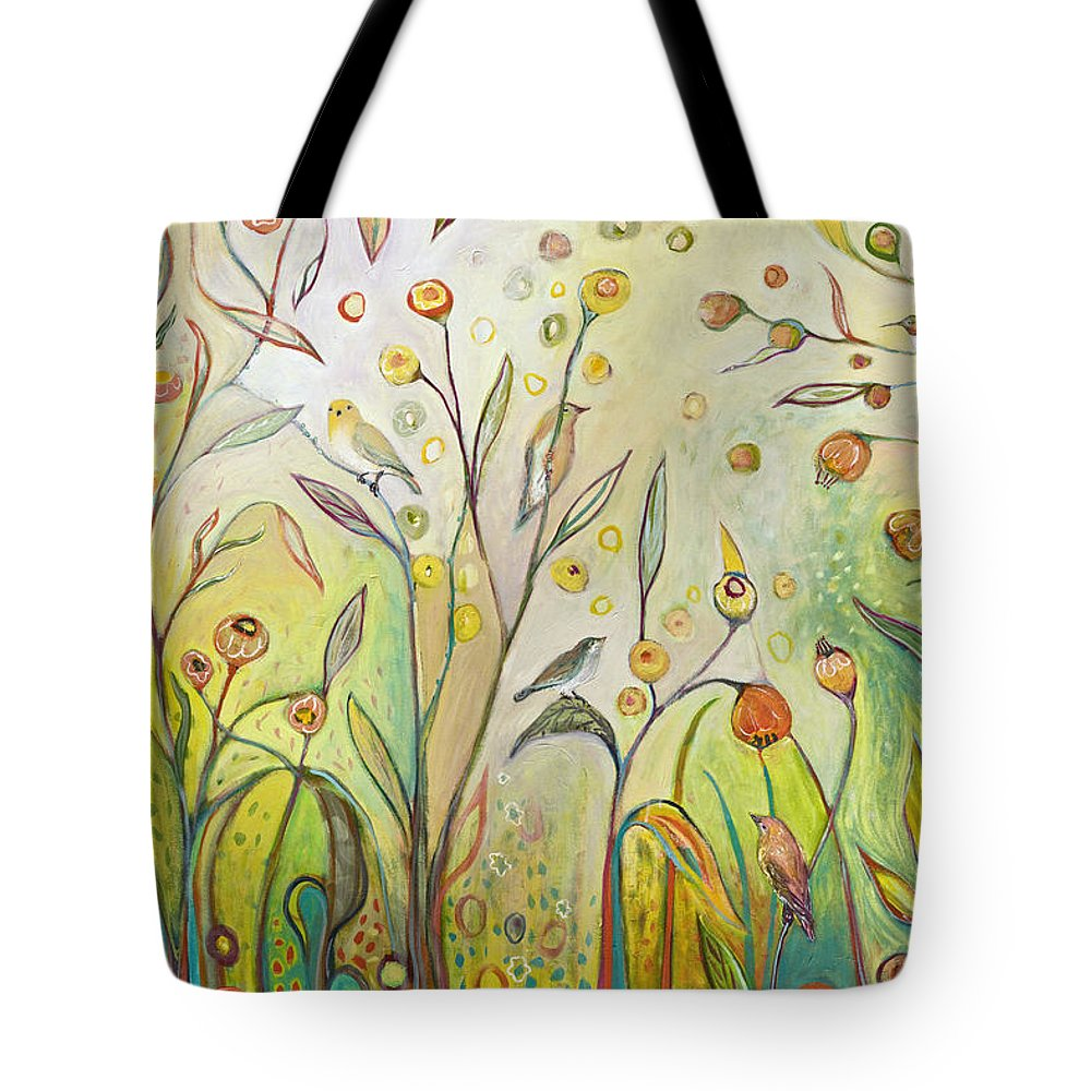 Garden Tote Bag featuring the painting Welcome to My Garden by Jennifer Lommers