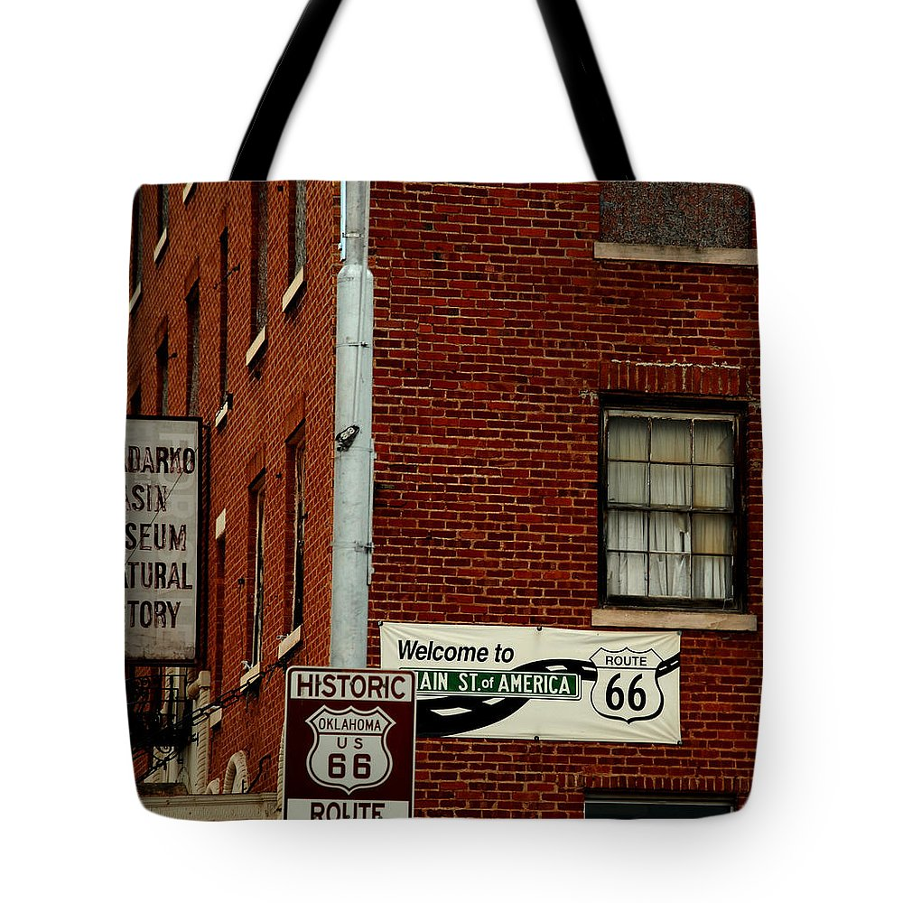 Landmark Tote Bag featuring the photograph Welcome To The Main Street Of America by Susanne Van Hulst
