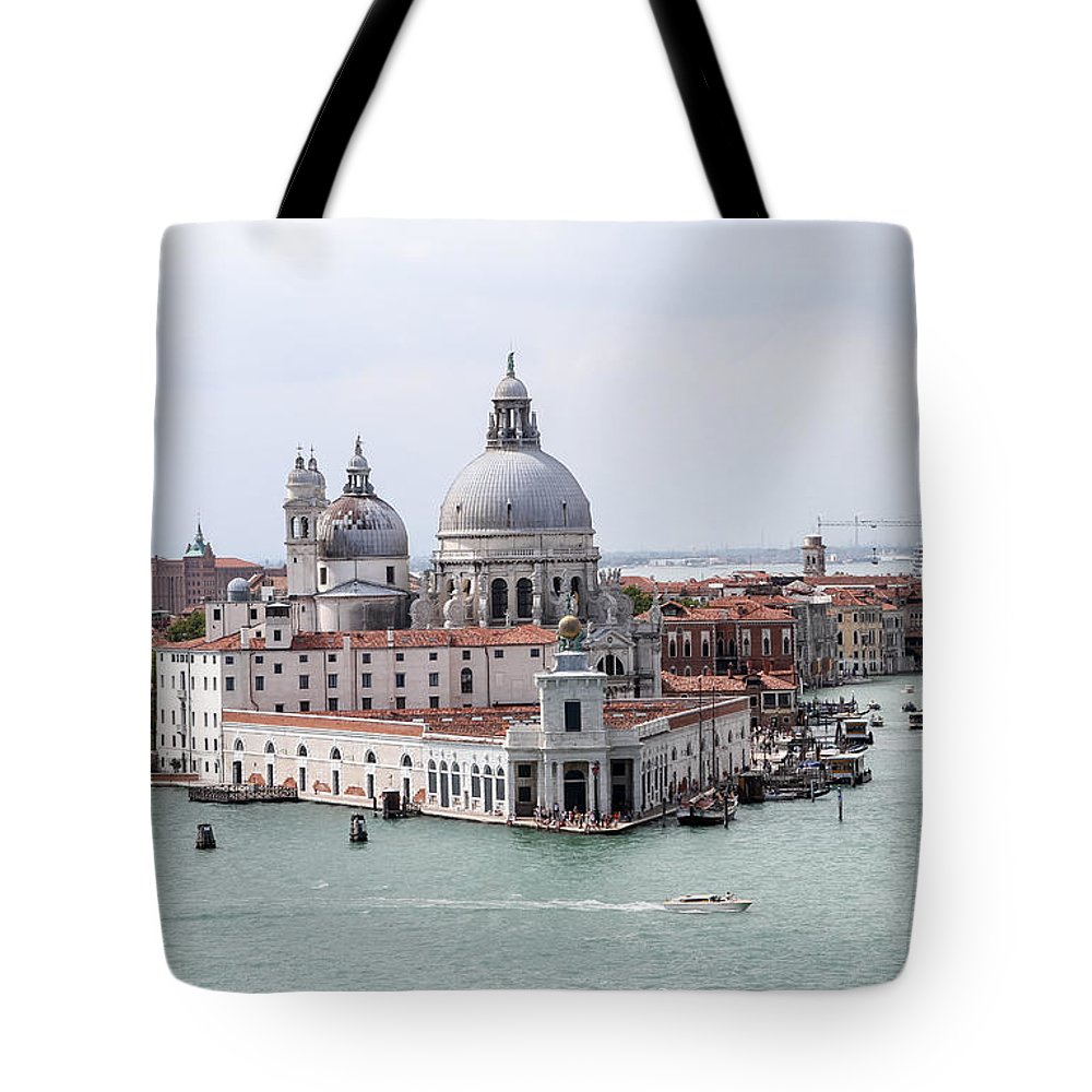 Venice Tote Bag featuring the photograph Welcome To Venice by Allan Levin