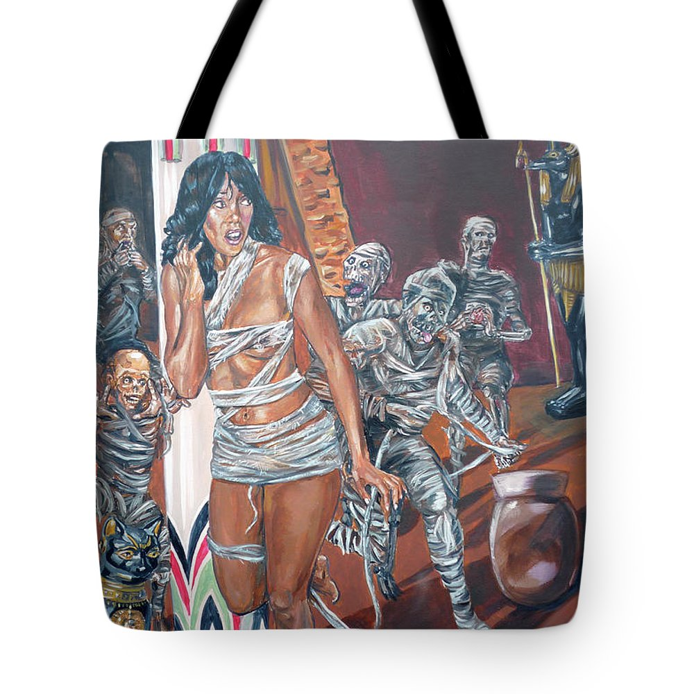 Egypt Tote Bag featuring the painting Well Preserved by Bryan Bustard