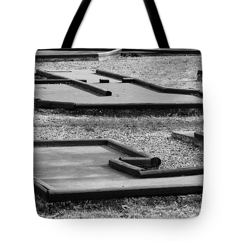 Course Tote Bag featuring the photograph Well Used Mini Golf Course by By Way of Karma