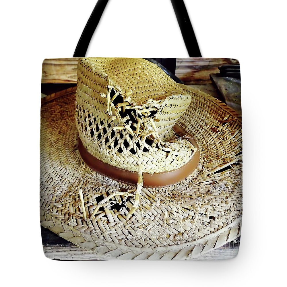Hat Tote Bag featuring the photograph Well Worn by D Hackett