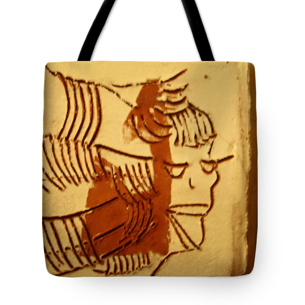Jesus Tote Bag featuring the ceramic art Wendy - Tile by Gloria Ssali