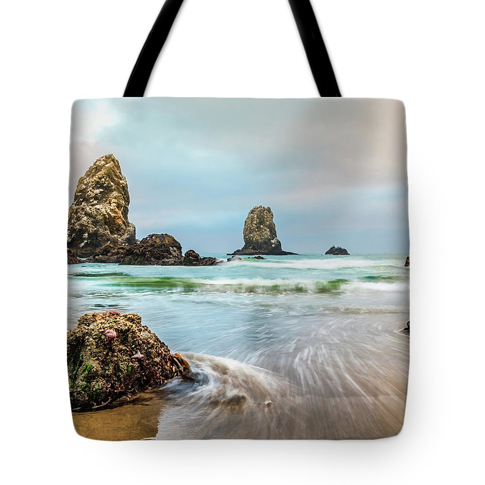Cannon Beach Tote Bag featuring the photograph West Coast Usa Wonder by Scott Campbell