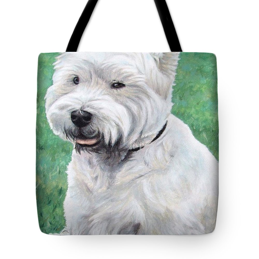 Dog Tote Bag featuring the painting West Highland Terrier by Nicole Zeug