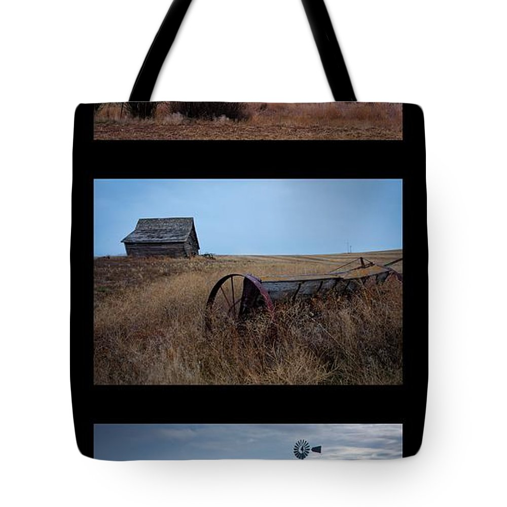 Windmill Tote Bag featuring the photograph West Plains Trio by Idaho Scenic Images Linda Lantzy