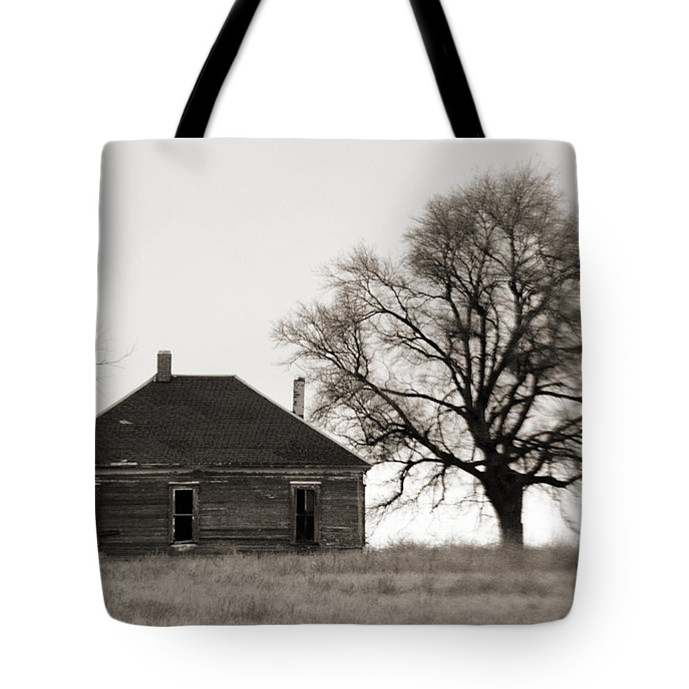 Texas Tote Bag featuring the photograph West Texas Winter by Marilyn Hunt