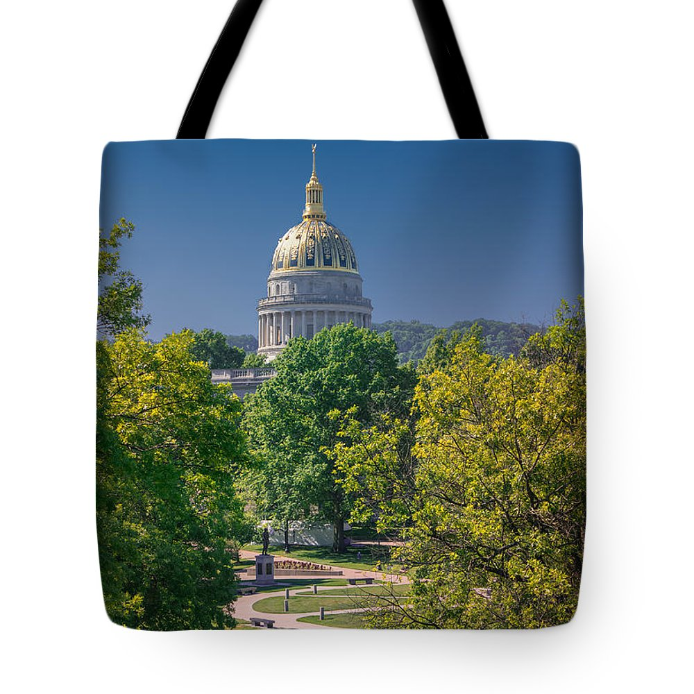 West Virginia State Capitol Tote Bag featuring the photograph West Virginia State Capitol Cap162 by Mary Almond