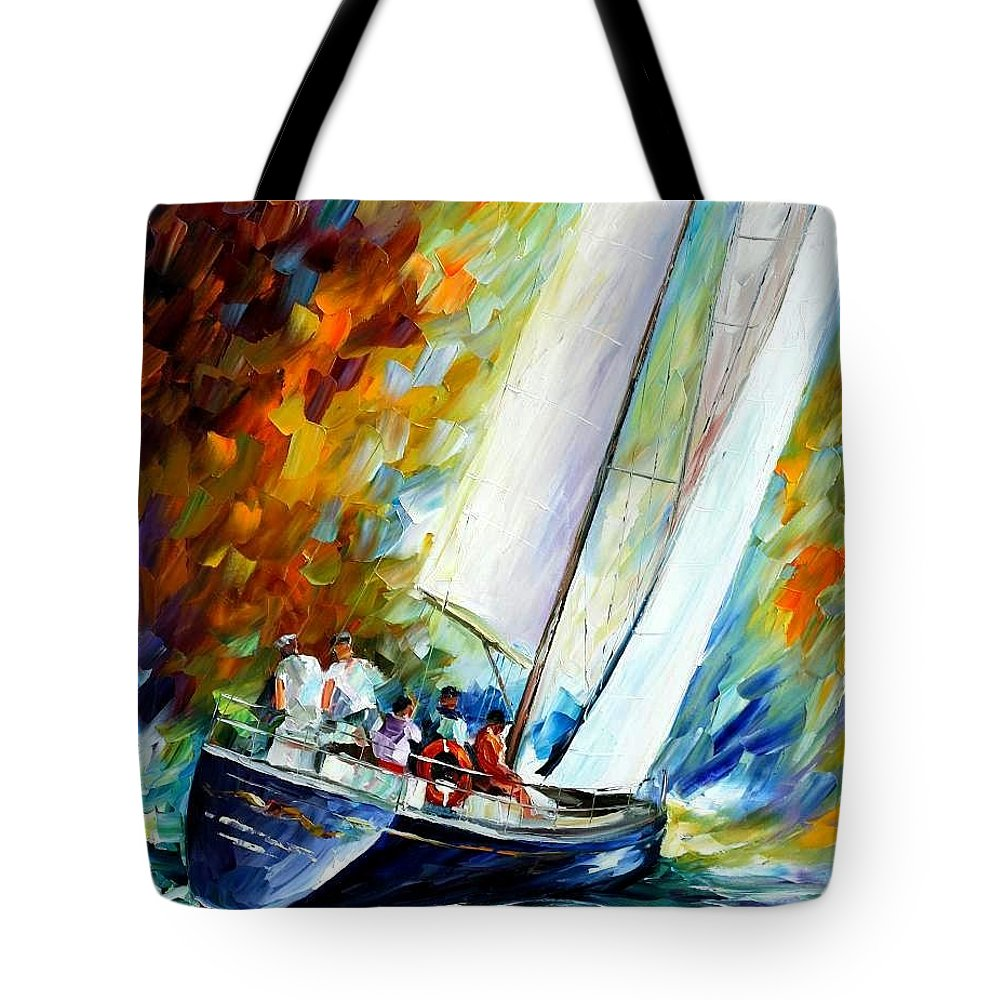 Afremov Tote Bag featuring the painting West Wind by Leonid Afremov
