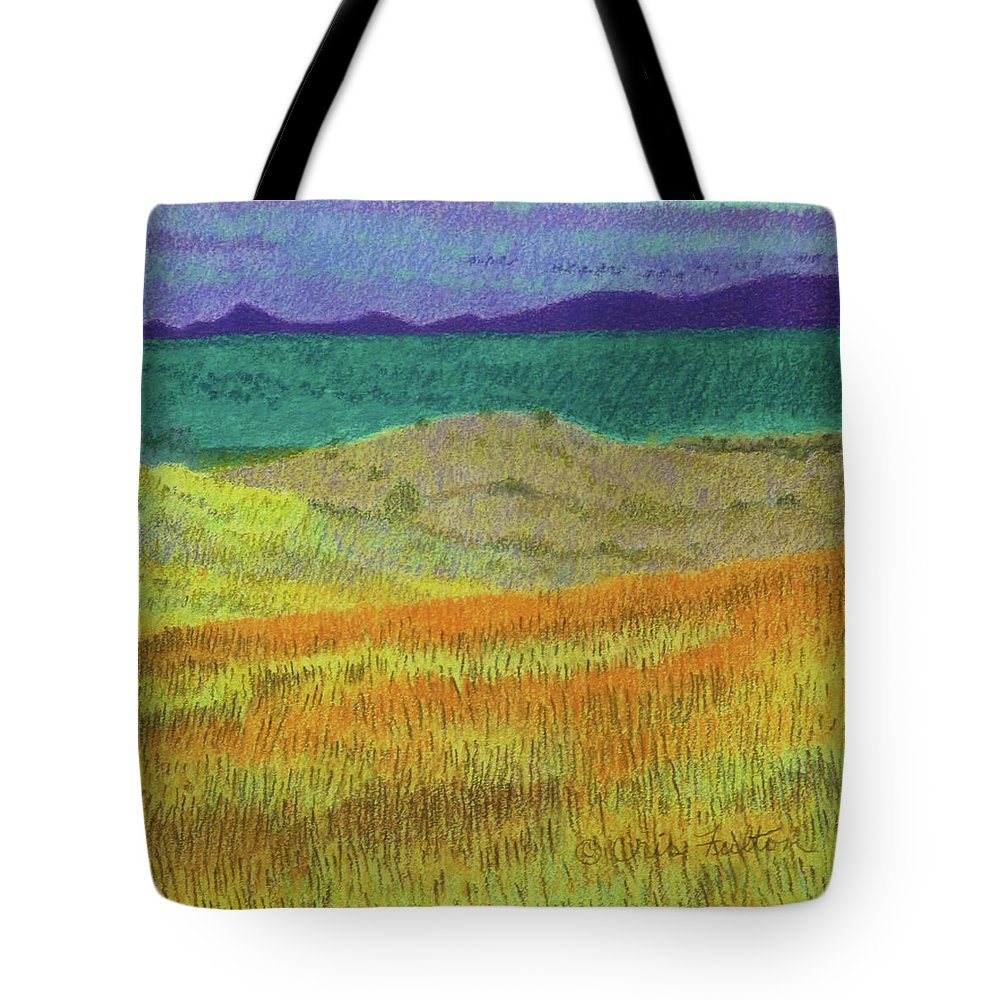 North Dakota Tote Bag featuring the painting Western Edge Prairie Dream by Cris Fulton